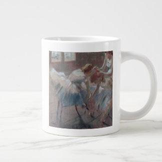 Three Dancers Preparing for Class Large Coffee Mug
