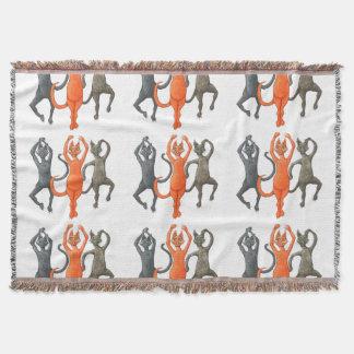 Three Dancing Cats Throw Blanket