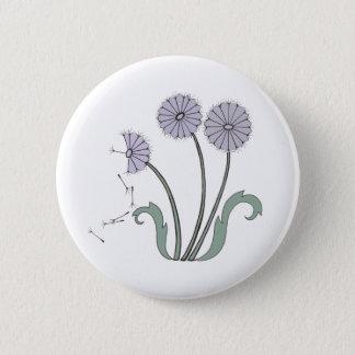 Three Dandelions in Lavender 2 Inch Round Button