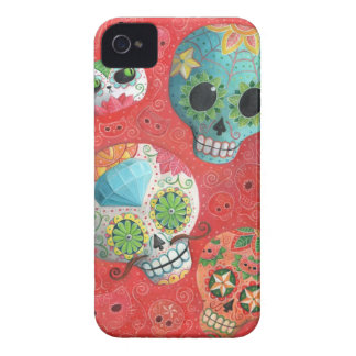 Three Day of The Dead Skulls iPhone 4 Cover