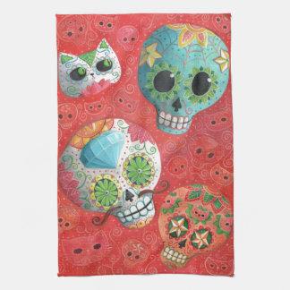 Three Day of The Dead Skulls Kitchen Towel