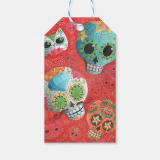 Three Day of The Dead Skulls Pack Of Gift Tags