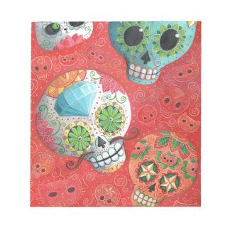Three Day of The Dead Skulls Scratch Pad