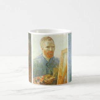 Three different Self Portraits by Vincent van Gogh Classic White Coffee Mug