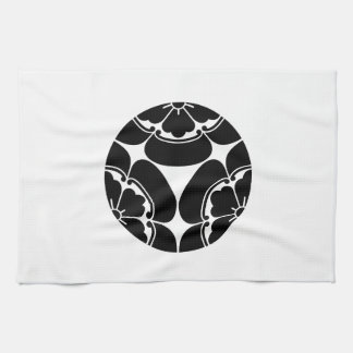 Three dividing Japanese quince Kitchen Towel