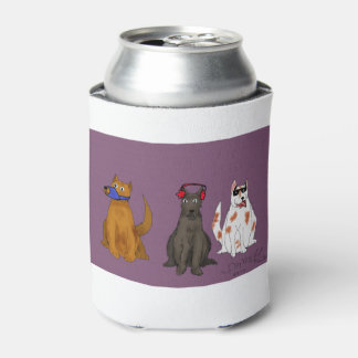 """""""Three Dogs Obey"""" Custom Can Cooler"""