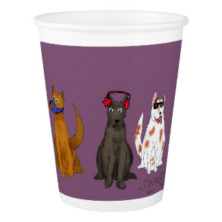 """""""Three Dogs Obey"""" Custom Paper Cup, 9 oz Paper Cup"""