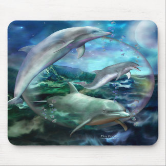 Three Dolphins Art Mousepad