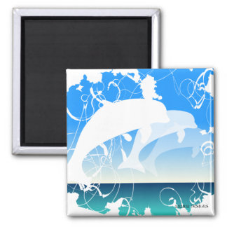 Three Dolphins magnet