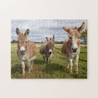 Three Donkey's Jigsaw Puzzle