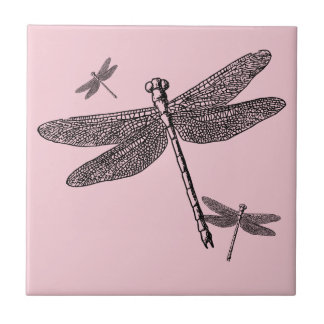 Three Dragonflies Tile