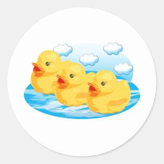 Three Ducks Classic Round Sticker