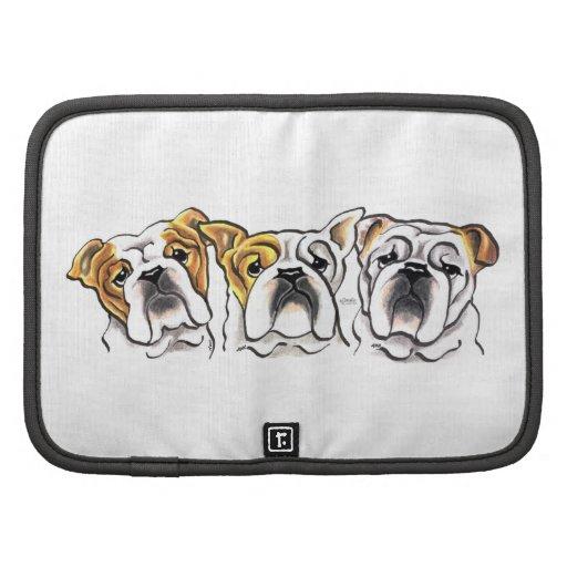Three English Bulldogs Planner