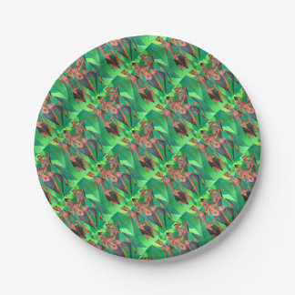 Three Ethnic Traditional Black Women Dancing 7 Inch Paper Plate