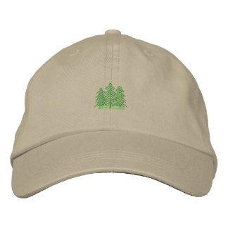 Three Evergreens Embroidered Hat