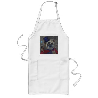 Three Eye Pug Dog Magic Show Art Print Long Apron