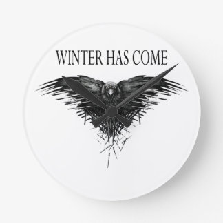 Three eyed raven! Game of thrones new season! Round Clock