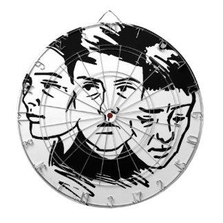 three faces dartboard