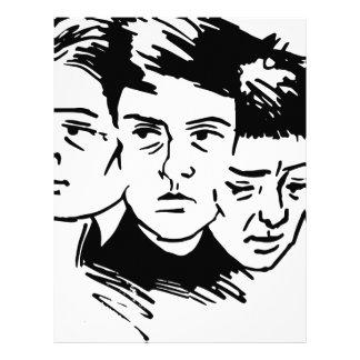 three faces letterhead