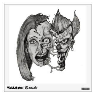 Three faces of hell wall decal
