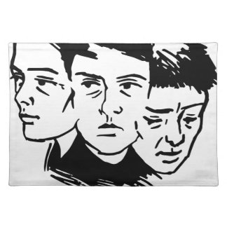 three faces placemat