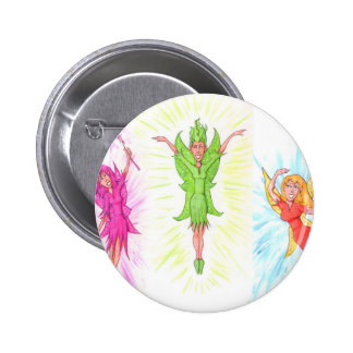 Three Fairies 2 Inch Round Button