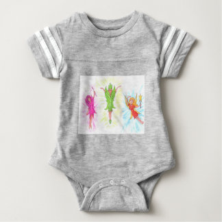 Three Fairies Baby Bodysuit