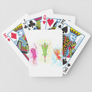 Three Fairies Bicycle Playing Cards