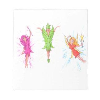 Three Fairies Notepad