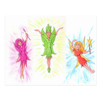 Three Fairies Postcard
