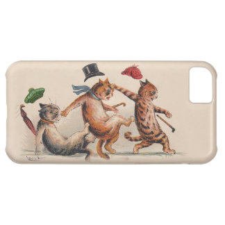Three Falling Cats by Louis Wain; Fun Vintage Cats iPhone 5C Cases