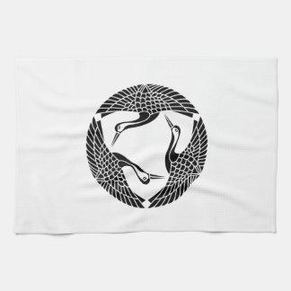 Three feather crane kitchen towel