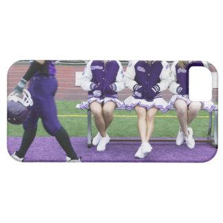 Three female cheerleaders (16-18) watching iPhone 5 covers