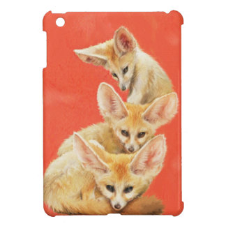 Three Fennec Fox Kits ipad case