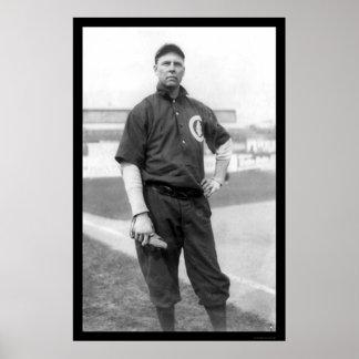 Three Finger Brown Cubs Baseball 1910 Poster