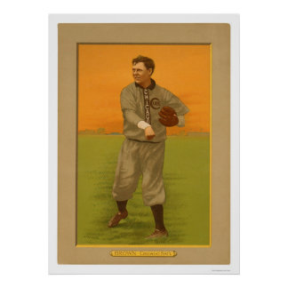 Three Finger Brown Cubs Baseball 1911 Poster