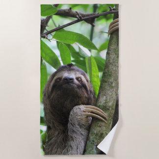 Three finger sloth beach towel