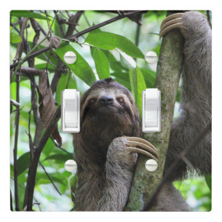 Three finger sloth light switch cover