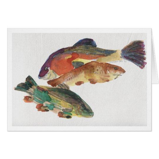Three Fish Card