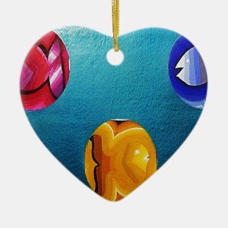 THREE FISH IN MEDIO_result.JPG Ceramic Ornament