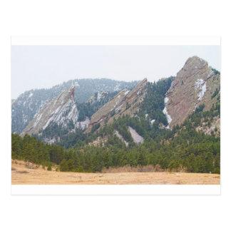 Three Flatirons Boulder Colorado Postcard