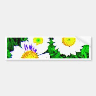 three flowers bumper stickers