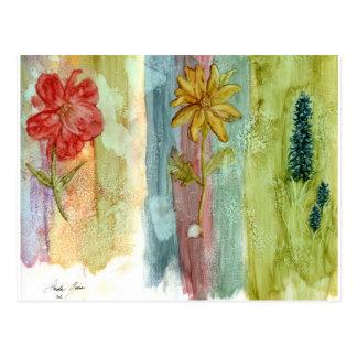 Three Flowers Post Cards