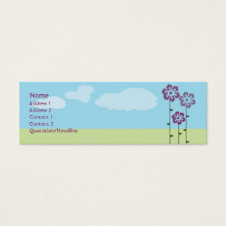 Three Flowers - Skinny Mini Business Card