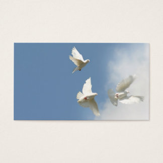 Three flying doves business card