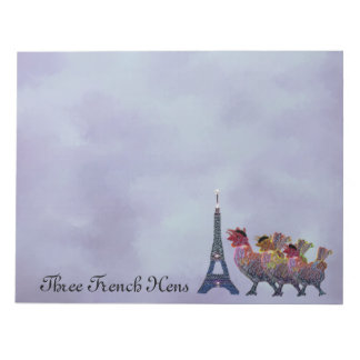 Three French Hens Notepads