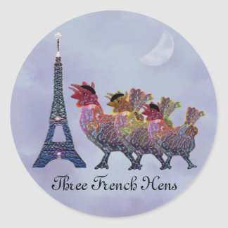 Three French Hens Stickers