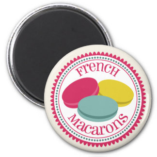 Three French Macarons Magnet