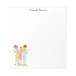 Three friends forever notepad