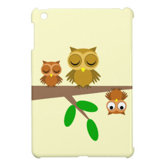 three funny owls iPad mini cases